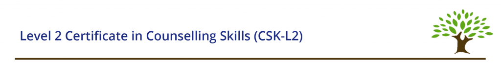 Level 2 Certificate in Counselling Skills (CSK-L2)
