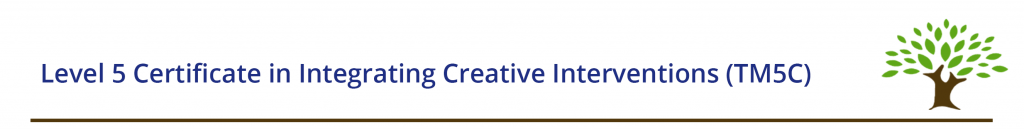 Level 5 Certificate in Integrating Creative Interventions (TM5C)